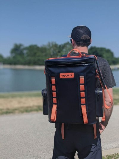 Wearing Tourit  Backpack Cooler
